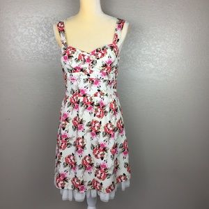 dELIA Floral A Line Fit & Flare Dress Skirted Tule